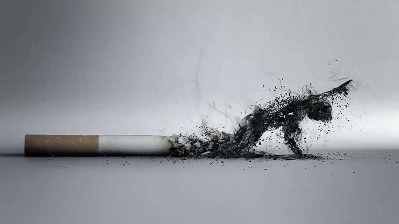 Comme les gens qui ont lair ont cessé de fumer